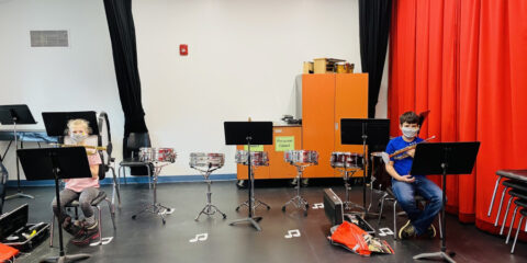 CMS Band Mask up their Instruments!